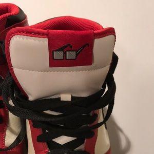 Nike Shoes - Nike Big High red white black mens size 8